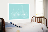 Sea Green Bike Print by  Avalisa
