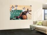 Miami Heat v Utah Jazz: Dwyane Wade and Raja Bell Print by Melissa Majchrzak