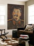 Soviet-Era Art, M.J.V. Stalin By Johannes Saal, 1952, Art Museum of Estonia, Tallinn, Estonia Posters by Walter Bibikow