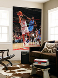 Oklahoma City Thunder v Chicago Bulls: Carlos Boozer and Serge Ibaka Print by Joe Murphy