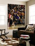 Los Angeles Lakers v Toronto Raptors: Andrew Bynum and Joey Dorsey Posters by Ron Turenne