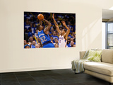 Dallas Mavericks v Oklahoma City Thunder - Game Three, Oklahoma City, OK - MAY 21: DeShawn Stevenso Art by Ronald Martinez