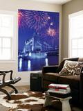 Fireworks Over the Tower Bridge, London, Great Britain, UK Print by Jim Zuckerman