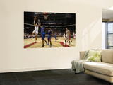 New York Knicks v Toronto Raptors: Andrea Bargnani and Shawne Williams Print by Ron Turenne