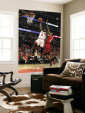 Miami Heat v Chicago Bulls - Game Five, Chicago, IL - MAY 26: Luol Deng and LeBron James Prints by Mike Ehrmann