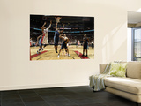 Denver Nuggets v Toronto Raptors: Leandro Barbosa and Nene Prints by Ron Turenne