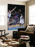 Detroit Pistons v Dallas Mavericks: Will Bynum, Dirk Nowitzki and Brendan Haywood Prints by Glenn James