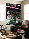 Boston Celtics v Charlotte Bobcats: Paul Pierce, Kevin Garnett and Gerald Wallace Prints by  Streeter