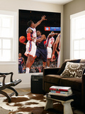 Atlanta Hawks v New York Knicks: Amar'e Stoudemire, Joe Johnson and Toney Douglas Prints by Jeyhoun Allebaugh