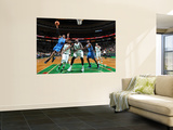 Oklahoma City Thunder v Boston Celtics: Russell Westbrook and Rajon Rondo Print by Brian Babineau