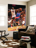 Detroit Pistons v Miami Heat: Greg Monroe and Joel Anthony Posters by Victor Baldizon