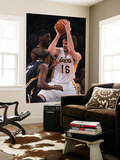 Indiana Pacers v Los Angeles Lakers: Pau Gasol, Roy Hibbert and T.J. Ford Art by Jeff Gross