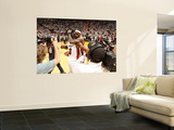 Chicago Bulls v Miami Heat - Game FourMiami, FL - MAY 24: LeBron James and Dwyane Wade Prints by Victor Baldizon