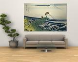 Katsushika Hokusai - Soshu Kajikazawa in Kai Province from the Series the Thirty-Six Views of Mount Fuji - Reprodüksiyon
