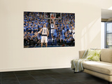 Oklahoma City Thunder v Dallas Mavericks - Game TwoDallas, TX - MAY 19: Shawn Marion, Thabo Sefolos Print by Glenn James