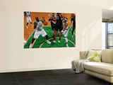 Portland Trail Blazers v Boston Celtics: Paul Pierce, Shaquille O'Neal and Marcus Camby Prints by Brian Babineau
