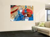 New Orleans Hornets v Detroit Pistons: Ben Gordon, Marcus Thornton and Tayshaun Prince Kunst af Allen Einstein