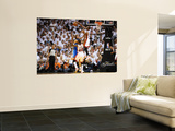 Dallas Mavericks v Miami Heat - Game Two, Miami, FL - JUNE 2: Dwyane Wade and Dirk Nowitzki Print by Garrett Ellwood