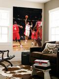 Philadelphia 76ers v Toronto Raptors: Jerryd Bayless and Tony Battie Art by Ron Turenne