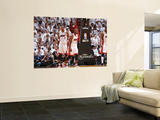 Dallas Mavericks v Miami Heat - Game One, Miami, FL - MAY 31: Chris Bosh and Dwyane Wade Prints by Jesse D. Garrabrant