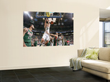 Milwaukee Bucks v Utah Jazz: Andrei Kirilenko and Jon Brockman Print by Melissa Majchrzak