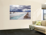 Storm Burst over Salt Pan Salinas Grandes Prints by Damien Simonis