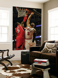 Atlanta Hawks v Chicago Bulls - Game Two, Chicago, IL - MAY 04: Josh Smith and Carlos Boozer Posters by Jonathan Daniel