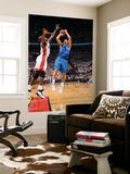 Dallas Mavericks v Miami Heat - Game One, Miami, FL - MAY 31: Dirk Nowitzki and Joel Anthony Plakater af Andrew Bernstein