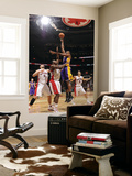 Los Angeles Lakers v Toronto Raptors: Andrew Bynum and Joey Dorsey Poster by Ron Turenne
