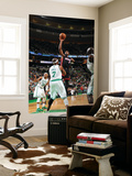 Miami Heat v Boston Celtics - Game Four, Boston, MA - MAY 9: Dwyane Wade and Jermaine O'Neal Prints by Brian Babineau