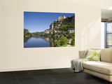 Chateau at Beynac-Et-Cazenac and Dordogne River, Beynac, Dordogne, France Art by Doug Pearson