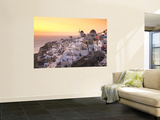 Greece, Cyclades, Santorini, Oia Town and Santorini Caldera Posters by Michele Falzone