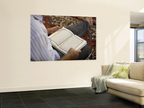 Man Reading Quran, Umayyad Mosque Prints by Holger Leue