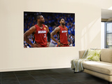 Miami Heat v Dallas Mavericks - Game Four, Dallas, TX -June 7: Dwyane Wade and LeBron James Posters by Garrett Ellwood