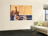 Los Angeles Lakers v Indiana Pacers: Roy Hibbert and Lamar Odom Print by Ron Hoskins