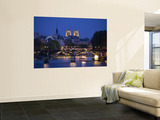 Notre Dame and Pont Des Arts, Paris, France Print by Jon Arnold
