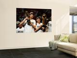 Dallas Mavericks v Miami Heat - Game Six, Miami, FL - June 12: Dirk Nowitzki and Jason Kidd Poster by Garrett Ellwood