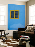 Yellow Window on Blue Wall Prints by Stephane Victor