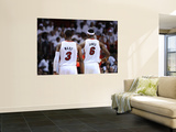 Dallas Mavericks v Miami Heat - Game Six, Miami, FL - June 12: LeBron James and Dwyane Wade Posters by Garrett Ellwood