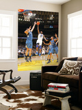 Minnesota Timberwolves v Golden State Warriors: Dorell Wright and Darco Milicic Prints by Rocky Widner