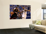 Miami Heat v Dallas Mavericks - Game Five, Dallas, TX -June 9: LeBron James and DeShawn Stevenson Print by Mike Ehrmann