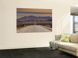 Route 66 Near Chambless with Marble Mountains in Distance, Mojave Desert Poster by Witold Skrypczak