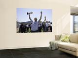 Mavericks Return to Dallas as NBA Champions, DALLAS, TX - June 13: Dirk Nowitzki Posters by Glenn James