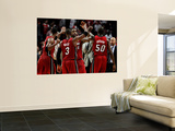Miami Heat v Chicago Bulls - Game Two, Chicago, IL - MAY 18: Dwyane Wade, LeBron James and Joel Ant Prints by Gregory Shamus
