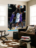 Sacramento Kings v New Orleans Hornets: Emeka Okafor and Carl Landry Prints by Chris Graythen