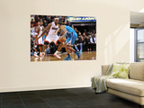New Orleans Hornets v Miami Heat: Chris Paul and LeBron James Prints by James Riley