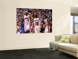 Dallas Mavericks v Miami Heat - Game One, Miami, FL - MAY 31: LeBron James and Mario Chalmers Posters by Mike Ehrmann
