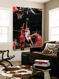 New Jersey Nets v Toronto Raptors: Linas Kleiza and Johan Petro Prints by Ron Turenne