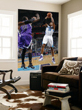 Sacramento Kings v New Orleans Hornets: David West and Samuel Dalembert Print by Layne Murdoch