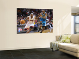 New Orleans Hornets v Miami Heat: LeBron James and Quinxy Pondexter Art by James Riley